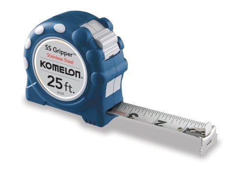 Komelon SS125SS Gripper 25-Foot Stainless Steel Measuring Tape