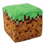 【SBK-0163】Minecraft (マインクラフト)草ブロック クッション ※ ミニクリーパーぬいぐるみ付!!SBK