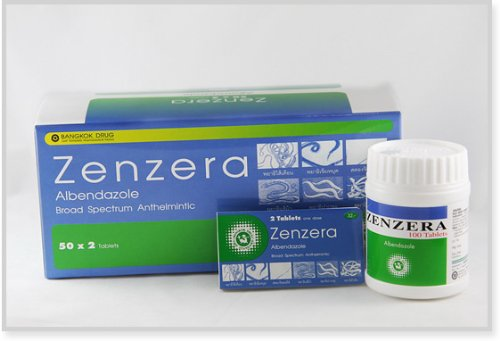 3 Pack Zenzera Albendazole Broad Spectrum Antheimintic 1x2 Tables Free Shipping Low Price