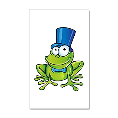 35 x 21 Wall Vinyl Sticker Frog with Top Hat