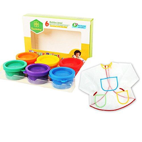 onecreation-paint-combi-set-6-color-non-toxic-washable-kids-finger-paints-6-count-anti-fouling-smock