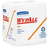 "Wypall L30 Wipes (05812) White, 12.5"" Width x 12"" Length (Case of 12, 90 Wipes per Pack)"