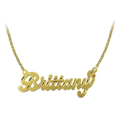 Personalized Necklace (Order Any Name) - 24k Gold Over Sterling Silver