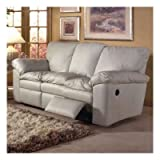 El Dorado Leather Reclining Sofa Color: Softsations Winter White
