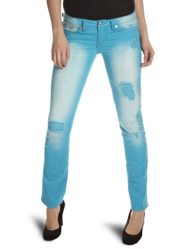 Antique Rivet Chole Straight Womens Jean Turquoise W34INxL32IN