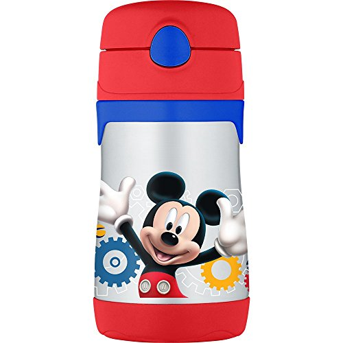 THERMOS Vacuum Insulated Stainless Steel 10-Ounce Straw Bottle, Mickey Mouse Clubhouse (Straw Insulation Cup compare prices)