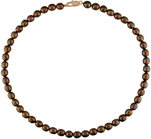 Brown Cultured Freshwater Pearl Necklace