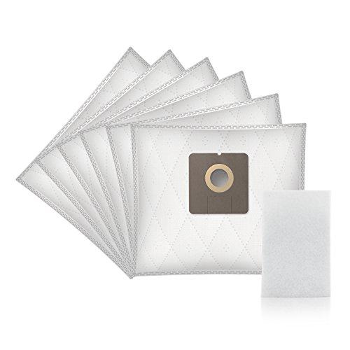 ✧WESSPER® Sacchetti per aspirapolvere Ecron VC 201 (6 pezzi, sintetici)