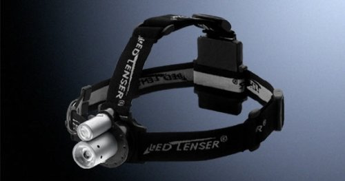 Coast Led Lenser Ll7450 Double Barrel Head Flashlight Luxeon And Nichia Led Headlamp