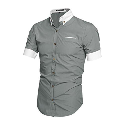 Allegra-K-Men-Short-Sleeves-Slim-Fit-Button-Down-Shirt
