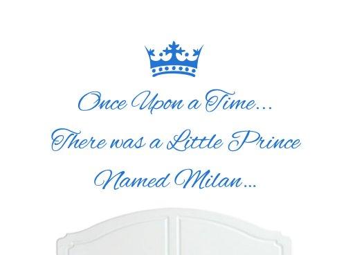 Once Upon a Time, grande Principe Milano-Adesivo decalcomania da parete, per camere da letto, motivo: Baby, bambino, colori assortiti