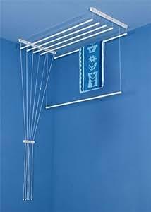 Sèche-linge de plafond AIRAVIE 7 barres 140cm