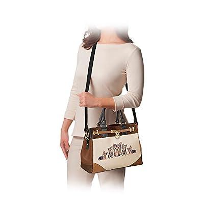 Fashion's Best Friend Dog Theme Faux Leather Satchel Handbag by The Bradford Exchange