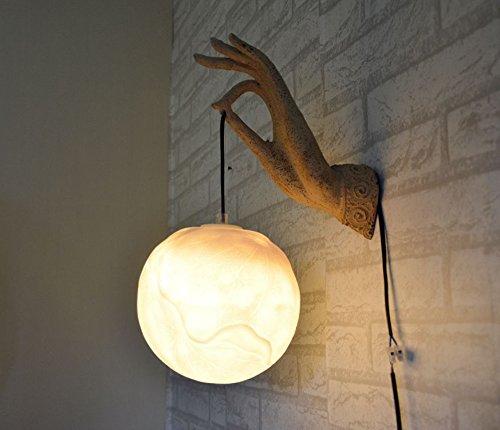 LINA-Regali di Natale Halloween Idee di stile neo-classico cinese Lotus resina parete Lampade Lampadari Alberghi, Complementi d'arredo ristoranti Club, giallo caldo