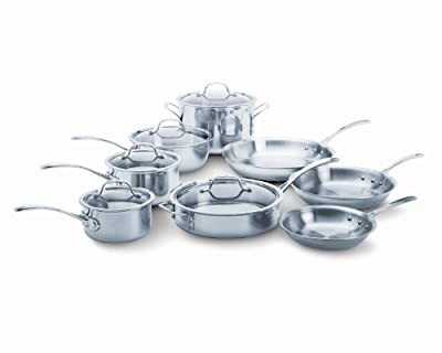 Calphalon Tri-Ply Stainless Steel 13-Piece Cookware Set by Calphalon