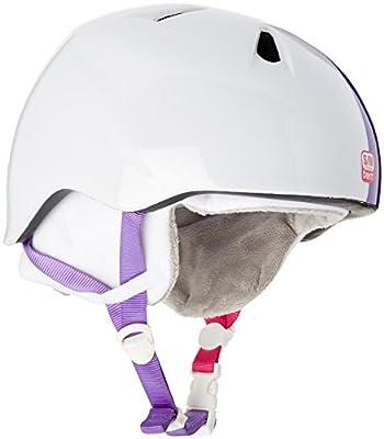 Bern Girl's Nina Zipmold with White Fleece Helmet