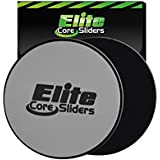 2 Core Sliders - #1 Rated Gliding Discs for Exercise on Amazon - Dual Sided for Use on Carpet or Hardwood Floors - Very Effective Core Trainer and Abdominal Exercise Equipment....
