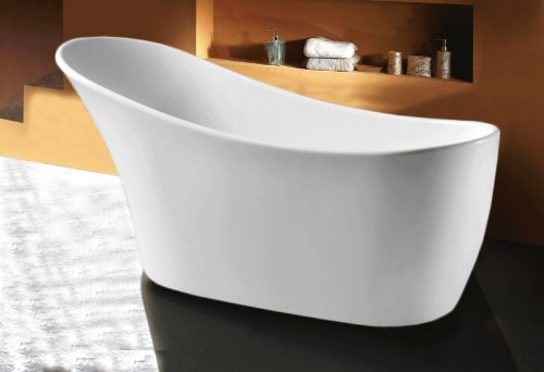 For Sale! AKDY F278 Bathroom White Color Free Standing Acrylic Bathtub