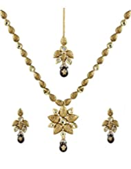 Anuradha Art Golden Kundan Jewellery Set For Women - B014HIRNGY