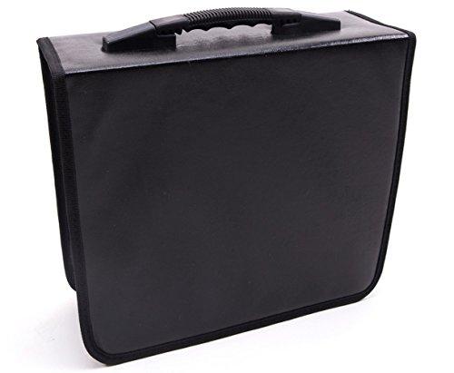 Fasmov 400 Disc CD/DVD Binder DVD Wallet Case,Black (Movie Case Storage compare prices)