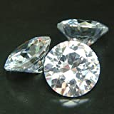 Beta Jewelry 5mm Round CZ AAAAA White Cubic Zirconia Loose Gemstones Lot
