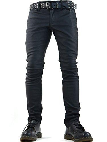 Lip Service Gothic Punk Rocker Motorcycle Biker Faux Leather Vegie PVC Vinyl Jeans Pants (34) (Lip Service Vinyl Pants compare prices)