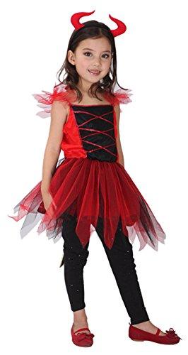 Bambina Costume Diavoletto Rosso