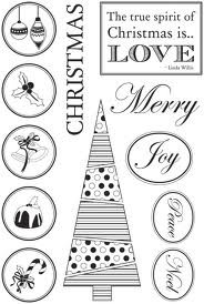 Kaisercraft Be Merry Clear Stamps, 4-Inch by 6-Inch, Contains 5 Sheets
