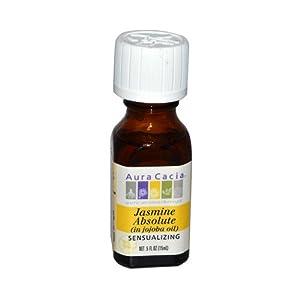 AURA CACIA, Precious Essentials Oil Jasmine Absolute w/Jojoba - .5 fl oz