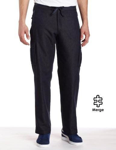 Perry Ellis Men's Drawstring Cargo Pant, Eclipse, 32