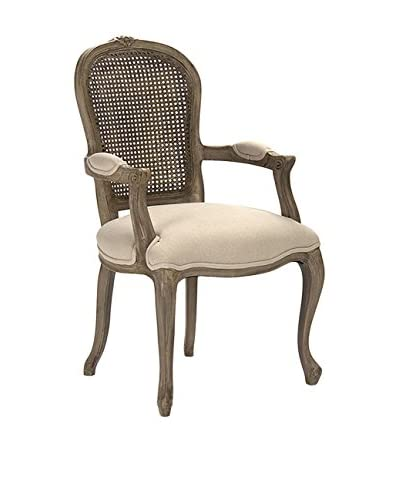 Zentique Lyon Cane-Back Armchair, Sandy Tan/Brown