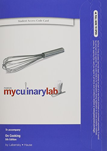 MyCulinaryLab without Pearson eText -- Standalone Access...