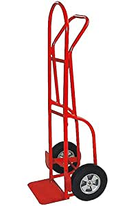 Milwaukee Hand Trucks 47290 Flow Back Handle Truck with 10-Inch Solid Puncture Proof Tires