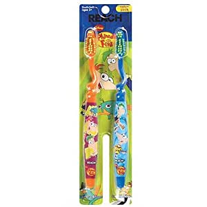 Reach Phineas and Ferb Toothbrush, 2 Count