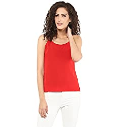 STYLEBAY Women Red Solid Top (CST029, X-Small)