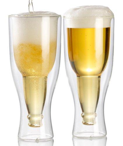 Pack de 2 verres à bière à double paroi - 33 cl