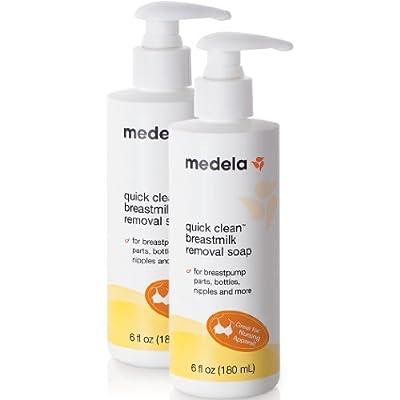 Medela Quick Clean Breastmilk Removal Soap, 2 - 6 Ounce Bottles