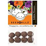 SeedBallz, Edible Flowers, 8 Balls Per Pack. This Multi-pack Contains 2 Packs.
