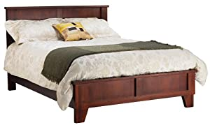 Modus Furniture Canyon Queen Size Panel Bed, Saddlebrown