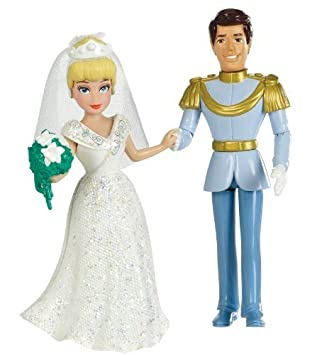 Disney Princess Fairytale Wedding Cinderella and Prince Charming Doll Set by Mattel (English Manual)