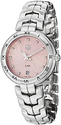 Tag Heuer Link Pink Dial Stainless Steel Quartz Woman's Watch WAT1313.BA0956