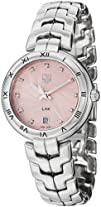 Tag Heuer Link Diamond Pink Guilloche Dial Steel Ladies