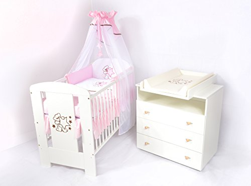 babyzimmer sparset incl babybett wickelkommode. Black Bedroom Furniture Sets. Home Design Ideas