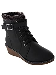 SHUZ TOUCH BLACK BOOT (SIZE-36)