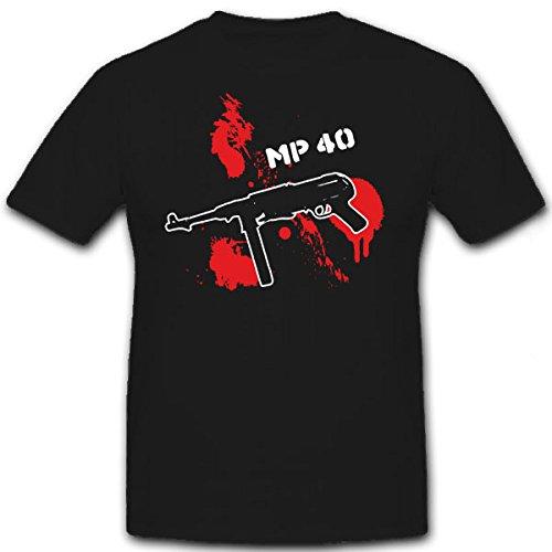 MP 40-fucile mitragliatore MP 40 38 9 mm Para - T-Shirt #7257 nero XX-Large