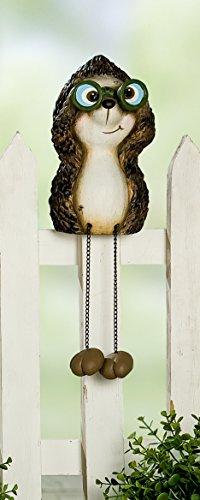 Witzige Figur Serie Zaun-Voyeure Kantensitzer Igel mit Fernglas