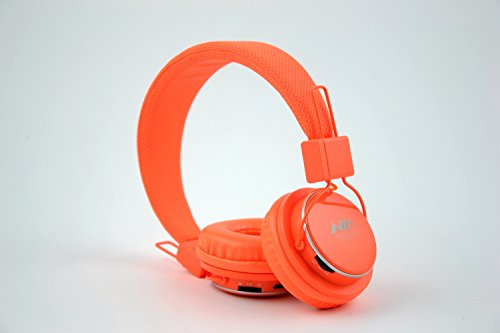 Granvela A809 Foldable Headphone Headset New Fashion Brand Music Player Wireless Handsfree Headset Headphones Earphone,Support Tf Card Fm Radio Monitor Portable Audio Pc --Orange
