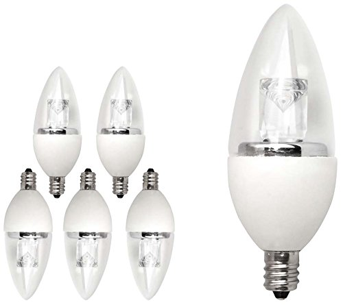 TCP 40 Watt Equivalent LED Torpedo Shaped, Candelabra Based Light Bulbs, 6-Pack, Dimmable, Soft White, LDCT5W27K6 (Lightbulb Shaped Led compare prices)