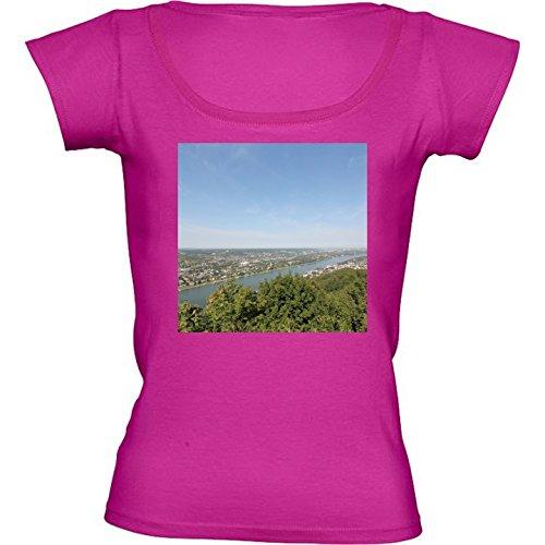 rundhals-rosa-fuchsie-damen-t-shirt-grosse-l-panorama-rheintal-by-christine-aka-stine1