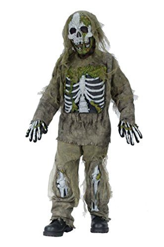 Boys Skeleton Zombie Kids Child Fancy Dress Party Halloween Costume